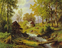 mühle in den voralpen by giovanni (johann) varone