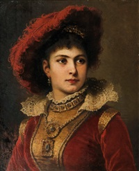 portrait of the opera singer adelina patti by friedrich august von kaulbach