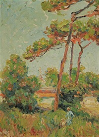landscape by french school