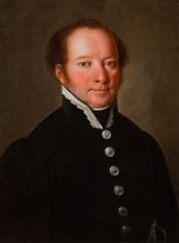 portret mężczyzny w zielonym mundurze by martin jablonski