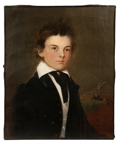 portrait of a young student by american school prior hamblen 19