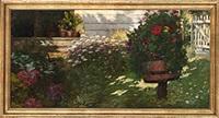 in her garden by otto stark