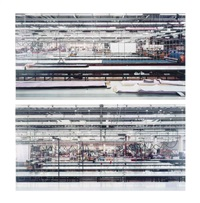 schiesser (diptych) by andreas gursky
