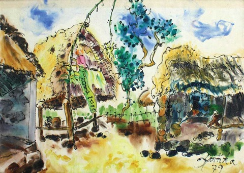 balinese village by kartika affandi