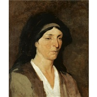 head of a woman by polychronis lembessis