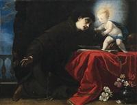 der heilige antonius mit dem jesusknaben by simone pignoni