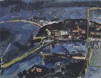 il porto di nizza di notte by alfredo fabbri