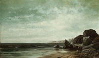 new england coastline by william henry hilliard