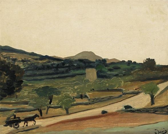 paysage aux environs de bandol by andré derain