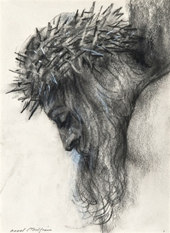 head of christ head of christ 2 studies by raoul millais