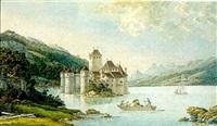 premier vuë du château de chillon allant de vevey au vallais by niclaus gachet