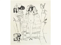 drag queen - the cambridge arms (2 works) by edward burra