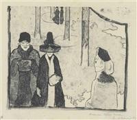 la promenade ou cinq femmes à paris by émile bernard