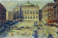 place de l'opera (+ la madeleine; 2 works) by paul gagni