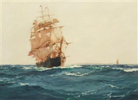 up channel - the red jacket by montague dawson