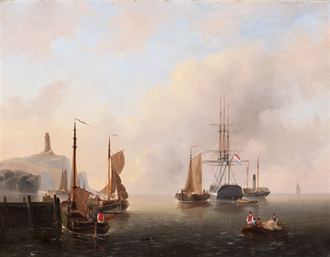 ships in the inner harbour ships on the zuiderzee 2 works by govert van emmerik