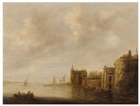 a river landscape by jan josefsz van goyen