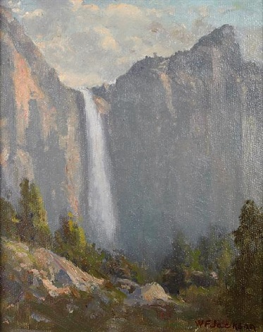 bridal veil falls yosemite by william franklin jackson