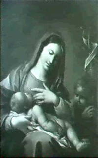 the madonna and child with st. john by batoni