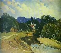 riviere dans la montagne by graer arakelyan