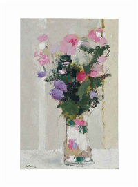 bouquet au vase de chine by bernard cathelin