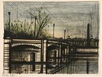 pont de la concorde, 1 des 10 planches de l'album paris by bernard buffet