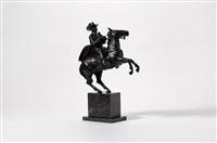 a cowboy on horseback by cocky duijvestijn-van der gun