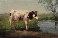 cow near a ditch by fedor van kregten