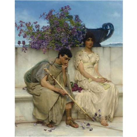 an eloquent silence by sir lawrence alma tadema