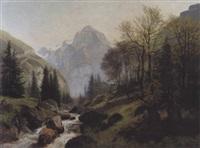 pic de tanneverge, vallée de sixt by edouard-louis-auguste metton