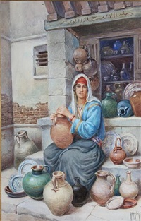 a pottery vendor by vittorio rappini