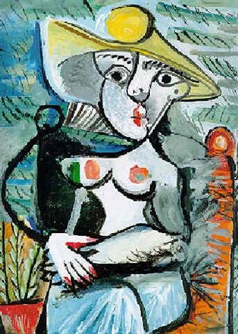 Femme au chapeau assise by Pablo Picasso on artnet