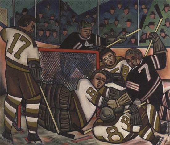hockey mêlée by caven ernest atkins