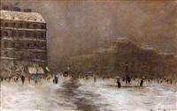 place de la république sous la neige by siebe johannes ten cate