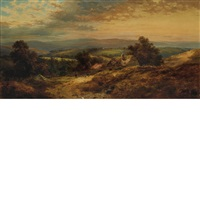 landscape with cottage by paul weber