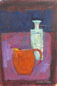 still life with red jug and still life (pair) by william selby