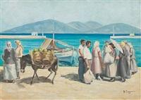 harbour scene by vasilis germenis