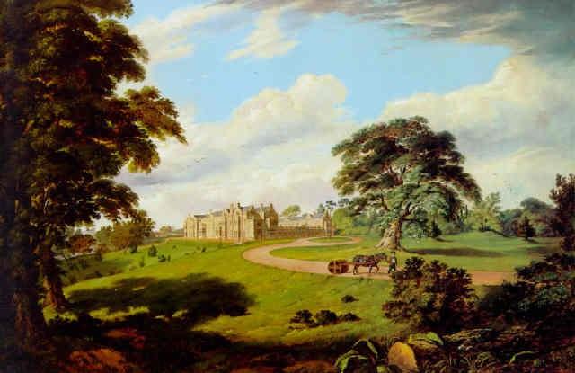 vue des abords du château de hever kent  by edward capps