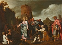 jesus and the woman taken in adultery by pieter lastman
