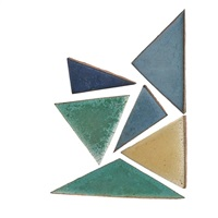 triangular tiles in various colors and shapes (247 works) by grueby