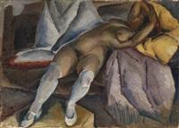 reclining nude by aleksei ilych kravchenko