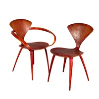 cherner chairs (set of 6) by paul goldman