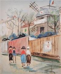 moulin de la galette by maurice utrillo