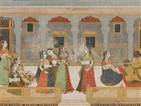 a prince entertained in the zenana (harem) by anonymous-indian (19)