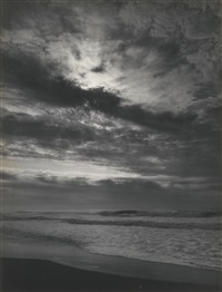 sundown, pacific ocean, northern california coast' ('pacific ocean, sunset, california') by ansel adams