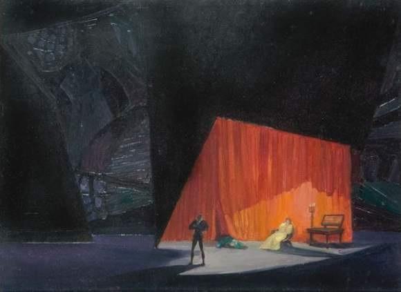 projet de décor pour hamlet de shakespeare by natan isaevich altman
