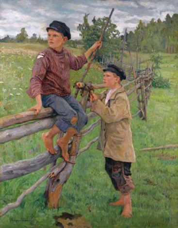 country boys by nikolai petrovich bogdanov belsky