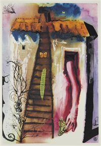 alice's adventures in wonderland (incpmplete portfolio of 11 of 12) by salvador dalí