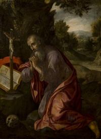 san girolamo (saint jerome) by girolamo muziano
