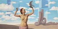 le domaine enchanté (ii) by rené magritte